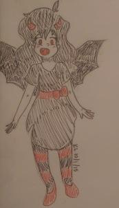 monster girl doodle