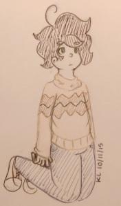 pumpkin boy doodle